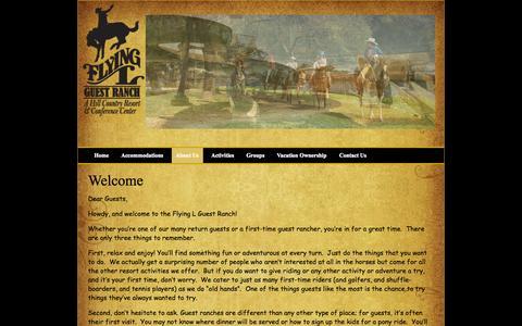 Screenshot of About Page flyingl.com - About Us - captured Nov. 3, 2014