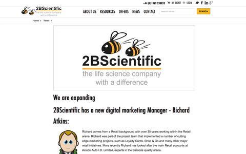 Screenshot of Press Page 2bscientific.com - News | 2BScientific - captured Dec. 19, 2016