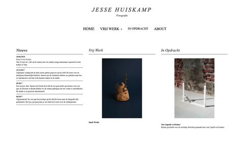 Screenshot of Home Page jessehuiskamp.com - HOME - Jesse Huiskamp Fotografie - captured Oct. 13, 2018