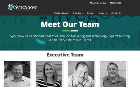 Screenshot of Team Page syncshow.com - Meet Our Team of Inbound Marketing Experts | SyncShow - captured Jan. 12, 2016