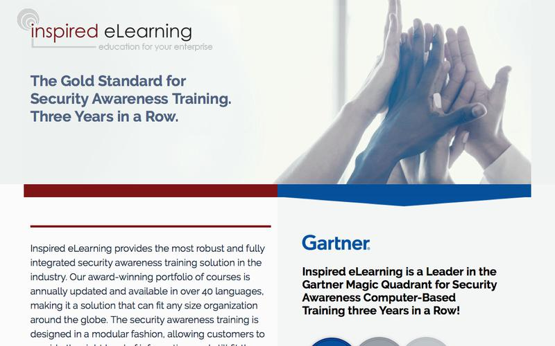Inspired eLearning : Gartner names Inspired eLearning a leader three times in a row
