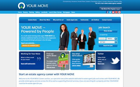 Screenshot of Jobs Page your-move.co.uk - Estate Agent Jobs & Property Jobs, Estate Agency Jobs & Careers | Your Move Careers - captured Oct. 27, 2014