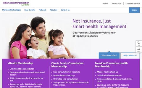 Screenshot of Home Page iho.in - Health cards | Medical cards by Indian Health Organisation - Indian Health Organisation - captured June 25, 2017
