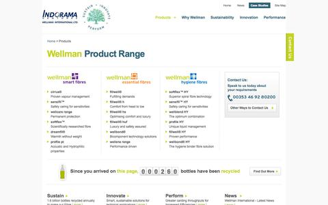 Screenshot of Products Page wellman-intl.com - Product Range | Wellman International - captured Oct. 26, 2014