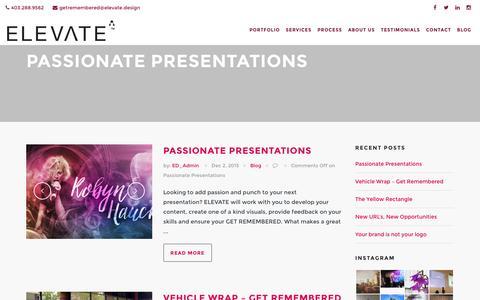 Screenshot of Blog elevate.design - Get Remembered - captured Dec. 6, 2015