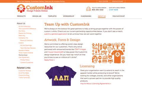 CustomInk Partnerships - Partner with CustomInk