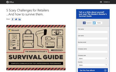 Screenshot of Landing Page office.com - Modern Retailer's Survival Guide - captured Oct. 22, 2016