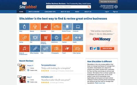 Consumer Reviews of Online Businesses - SiteJabber