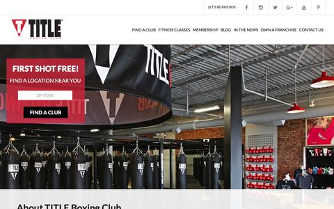 Screenshot of About Page titleboxingclub.com - TITLE Boxing Club  |  About Our Health Club | TITLE Boxing Club - captured Feb. 12, 2016