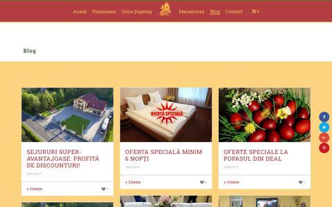Screenshot of Blog popasul.ro - Blog - Popasul din Deal - captured March 11, 2017