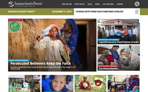 Screenshot of Home Page samaritanspurse.org - Samaritan's Purse — International Relief - captured Dec. 11, 2015