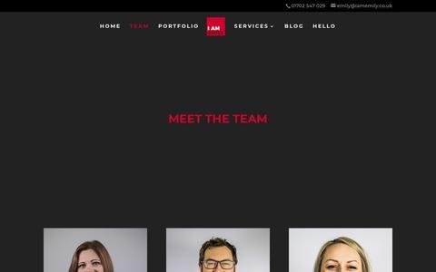 Screenshot of Team Page iamemily.co.uk - Team - I am Emily - captured Sept. 20, 2018