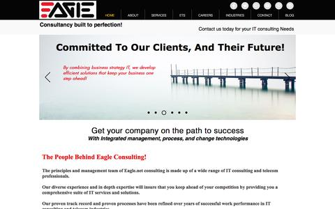 Screenshot of Home Page eagle.net - Eagle.net IT Management Consulting - captured Oct. 19, 2016