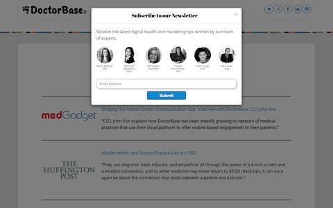 Screenshot of Press Page doctorbase.com - News - DoctorBase BlogDoctorBase Blog - captured Oct. 22, 2014