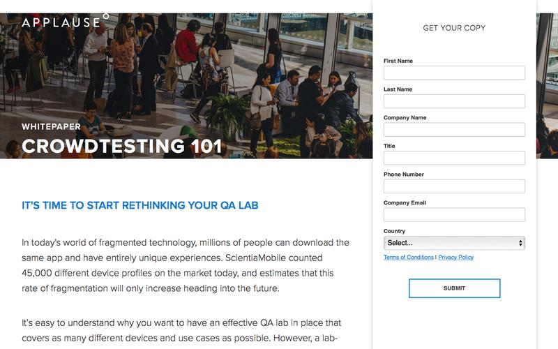Whitepaper: Crowdtesting 101