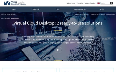 Screenshot of Case Studies Page ovh.co.uk - Virtual Cloud Desktop | your ready-to-use virtual desktop solution- OVH - captured June 20, 2017