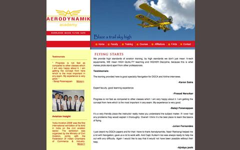 Screenshot of Testimonials Page aerodynamiks.com - Aerodynamiks Aviation Academy - Testimonials | Flying Training | DGCA | FAA | Airline Interview | Mumbai | Learing Experience - captured Oct. 4, 2014