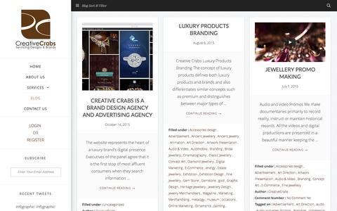 Screenshot of Blog creativecrabs.com - Blog  | Top 10 Branding Agency  |  CreativeCrabs - captured Feb. 1, 2016