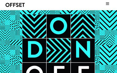 Screenshot of Home Page iloveoffset.com - Home - OFFSET - captured Aug. 12, 2015