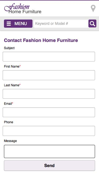 Screenshot of Contact Page Locations Page fashionhomefurniture com    Contact Fashion Home Furniture   Dallas. Retail  High End  Locations Pages   Website Inspiration and