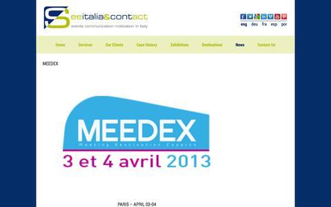 Screenshot of Press Page seeitalia-contact.com - News | See Italia Contact - captured Oct. 27, 2014