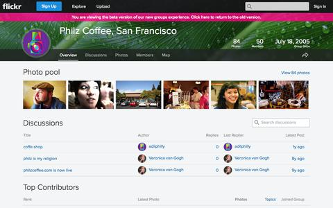 Screenshot of Flickr Page flickr.com - Flickr: The Philz Coffee, San Francisco Pool - captured Oct. 28, 2014