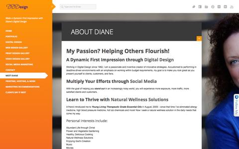 Screenshot of About Page didide.com - About Diane | Diane's Digital Design - captured Oct. 5, 2014