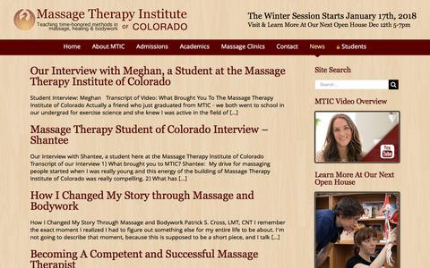 Screenshot of Testimonials Page mtic.edu - Testimonials | Massage Therapy Institute of Colorado - captured Oct. 17, 2017