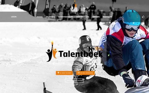 Screenshot of Login Page talentboek.nl - Talentboek - Home - captured Aug. 17, 2015