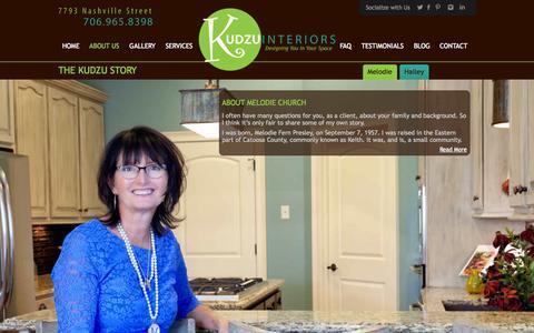 Screenshot of About Page kudzuinteriors.com - The KUDZU story - Kudzu Interiors - captured Oct. 27, 2014