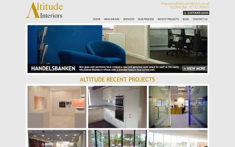 Screenshot of Case Studies Page altitudeinteriors.co.uk - Recent Project & Case Studies: Altitude Interiors - captured Sept. 30, 2014
