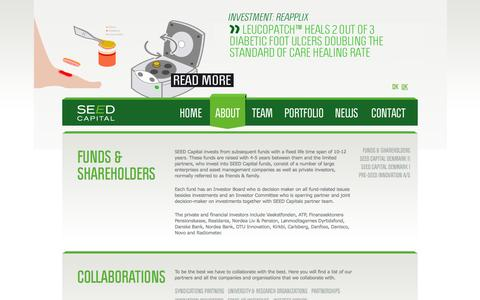 Screenshot of About Page seedcapital.dk - About | SEED Capital Denmark - captured Sept. 19, 2014