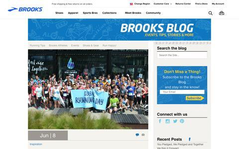 Screenshot of Blog brooksrunning.com - Brooks Blog - Run Happy! - captured June 20, 2018