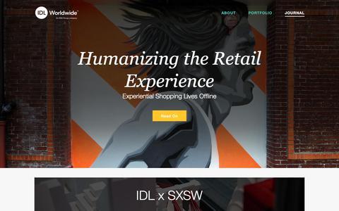 Screenshot of Blog idlww.com - Visual Merchanding Trends | IDL Worldwide - captured Oct. 1, 2018