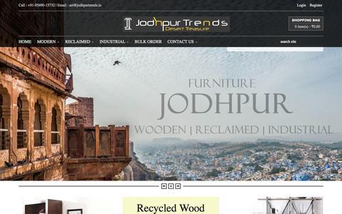 Screenshot of Home Page jodhpurtrends.in - Jodhpur Trends, , FURNITURE ONLINE SHOPPING: DELHI : PUNE : MUMBAI : BANGALORE : HYDERABAD : INDIA : FURNITURE | BUY FURNITURE | SOFA SET ONLINE| BEDS ONLINE| FURNITURE ONLINE DELHI | FURNITURE ONLINE BANGALORE - captured Sept. 24, 2014