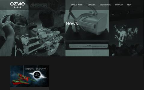 Screenshot of Press Page ozwe.com - OZWE Games |   News - captured Dec. 17, 2016