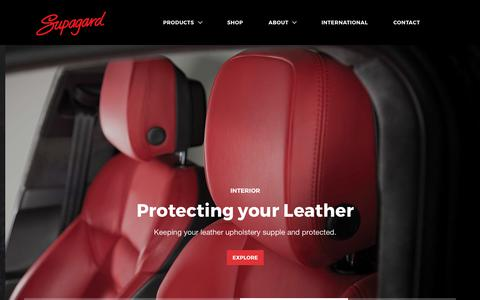 Screenshot of Home Page supagard.co.uk - Supagard | Paint and Fabric protection - captured Oct. 25, 2017