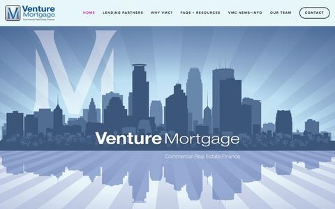 Screenshot of Home Page venturemortgage.com - Venture MortgageHome - captured Feb. 27, 2016