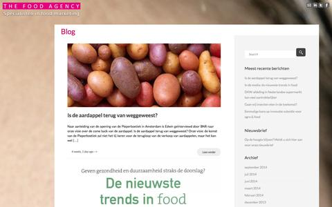 Screenshot of Blog thefoodagency.nl - food marketing blog - The Food Agency - - captured Oct. 26, 2014