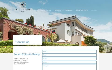 Screenshot of Contact Page n2srealty.com - North 2 Sourth Realty | Contact - captured Dec. 3, 2016
