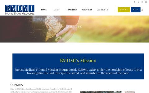 Screenshot of About Page bmdmi.org - BMDMI |   About Us - captured Oct. 5, 2018