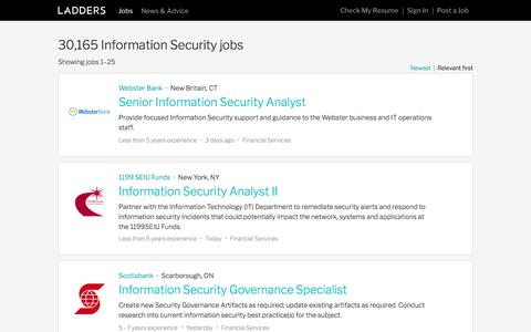 Information Security Jobs | Ladders