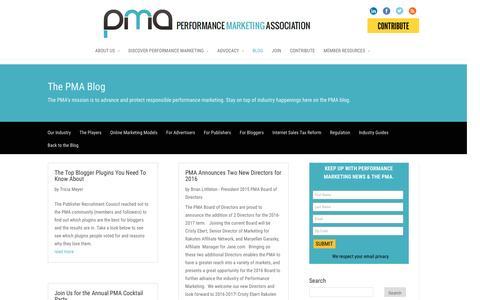 Screenshot of Blog thepma.org - Blog | The PMA - captured Jan. 19, 2016
