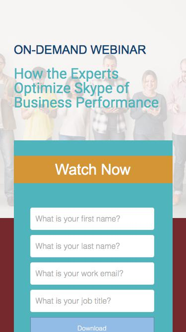 How the Experts Optimize Skype of Business Performance