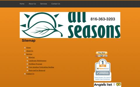Screenshot of Site Map Page allseasonsll.com - All Seasons Lawn and Landscaping - Home - captured Nov. 20, 2016