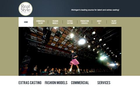 Screenshot of Home Page rsol.us - Real Style | Michigan Talent Agency - captured Oct. 1, 2014