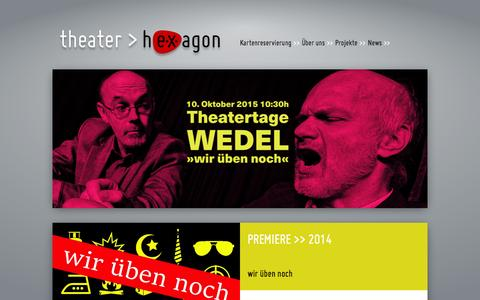 Screenshot of Home Page theater-hexagon.de - theater hEXagon - Kiel - Home - captured June 10, 2016
