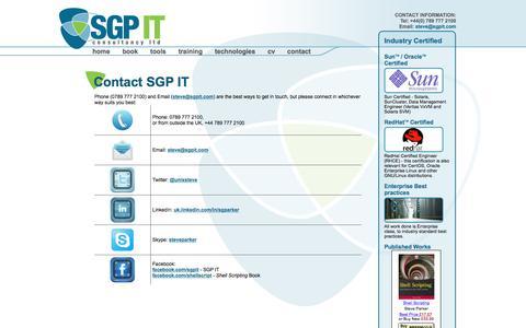 Screenshot of Contact Page sgpit.com - SGP IT  : Contact - captured Nov. 17, 2016