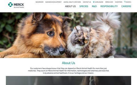Screenshot of About Page merck-animal-health.com - About us – Corporate Home Page – Merck Animal Health - captured Dec. 16, 2019