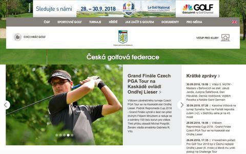 Screenshot of Home Page cgf.cz - Česká golfová federace - captured Sept. 30, 2018